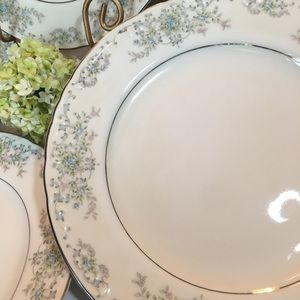 Vintage Dining - (4) Norleans China Theresa Dinner Curved  Plates